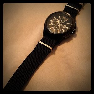 Invicta specialty 1486 date chronograph blk on blk